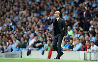 Football - 2016 / 2017 Champions League - Qualifying Play-Off, Second Leg: Manchester City [5] vs. Steaua Bucharest [0]<br /> <br /> Pep Guardiola of Manchester City during the match, at the Ethihad Stadium.<br /> <br /> COLORSPORT/LYNNE CAMERON