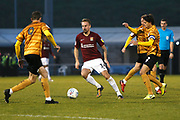 Chris Lines in action during the EFL Sky Bet League 2 match between Northampton Town and Crewe Alexandra at the PTS Academy Stadium, Northampton, England on 16 November 2019.