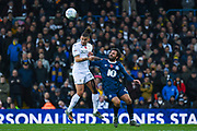 Leeds United midfielder Kalvin Phillips (23) and Blackburn Rovers midfielder Bradley Dack (23) in action during the EFL Sky Bet Championship match between Leeds United and Blackburn Rovers at Elland Road, Leeds, England on 9 November 2019.