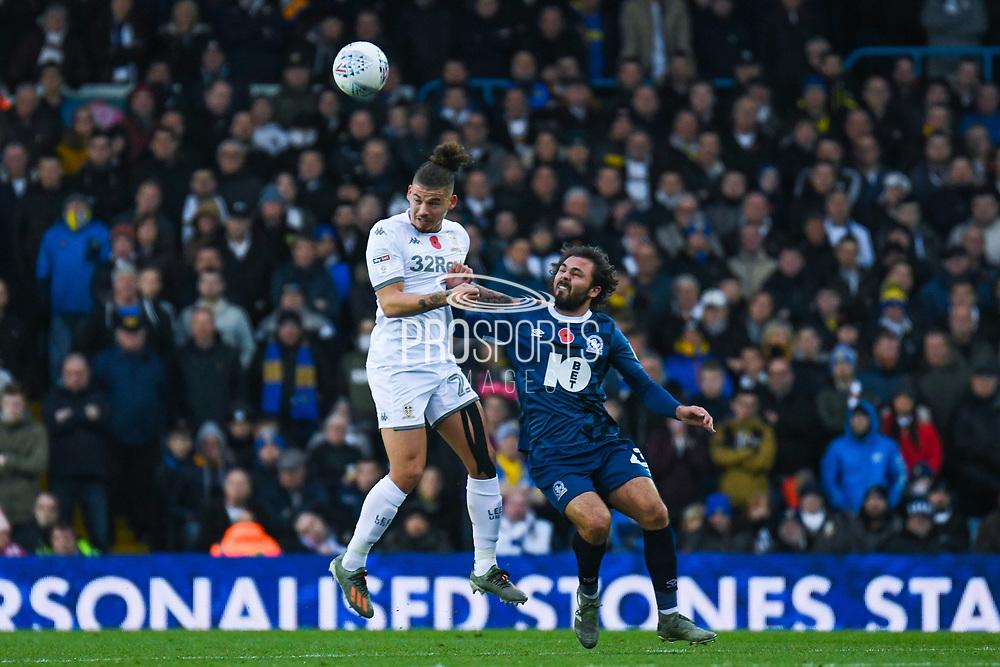 Leeds United midfielder Kalvin Phillips (23) and Blackburn Rovers midfielder Bradley Dack (23) in action during the EFL Sky Bet Championship match between Leeds United and Blackburn Rovers at Elland Road, Leeds, England on 9 November 2019.