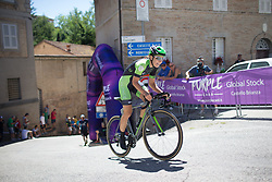 Dani King (GBR) of Cylance Pro Cycling rides near the top of the final climb of Stage 5 of the Giro Rosa - a 12.7 km individual time trial, starting and finishing in Sant'Elpido A Mare on July 4, 2017, in Fermo, Italy. (Photo by Balint Hamvas/Velofocus.com)