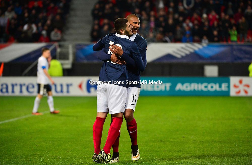 Joie Yassine BENZIA / Sebastien HALLER - 25.03.2015 - Football Espoirs - France / Estonie - Match Amical -Valenciennes<br /> Photo : Dave Winter / Icon Sport