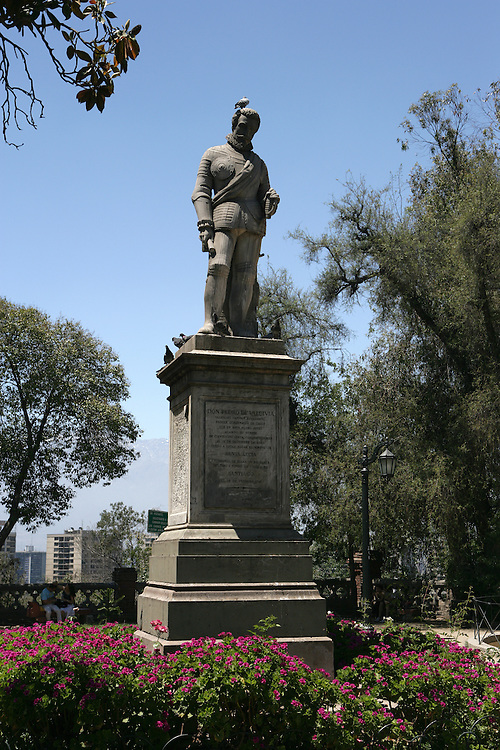 Statue of Valdivia, Cerro Santa Lucia, Santiago, Chile