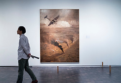 Painting Bombing Chengdu by Shu Ogawara at National Museum of  Modern Art  in Tokyo