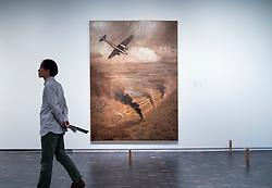 Painting Bombing Chengdu by Shu Ogawara at National Museum of  Modern Art  in Tokyo