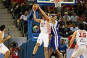 DESCRIZIONE : Madrid Spagna Spain Eurobasket Men 2007 Spagna Grecia Spain Greece<br />GIOCATORE : Ioannis Bourousis Pau Gasolb<br />SQUADRA : Grecia Greece<br />EVENTO : Eurobasket Men 2007 Campionati Europei Uomini 2007 <br />GARA : Spagna Grecia Spain Greece<br />DATA : 07/09/2007 <br />CATEGORIA : Rimbalzo Stoppata<br />SPORT : Pallacanestro <br />AUTORE : Ciamillo&Castoria/G.Ciamillo <br />Galleria : Eurobasket Men 2007 <br />Fotonotizia : Madrid Spagna Spain Eurobasket Men 2007 Spagna Grecia Spain Greece<br />Predefinita :