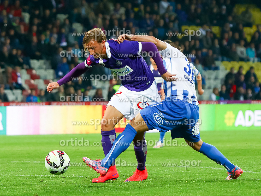 02.05.2015, Generali Arena, Wien, AUT, 1. FBL, FK Austria Wien vs SC Wiener Neustadt, 31. Runde, im Bild Daniel Royer (FK Austria Wien), Kristijan Dobras (SC Wiener Neustadt)// during Austrian Football Bundesliga Match, 31th round, between FK Austria Vienna and SC Wiener Neustadt at the Generali Arena, Wien, Austria on 2015/05/02. EXPA Pictures © 2015, PhotoCredit: EXPA/ Sebastian Pucher