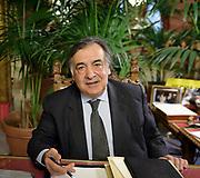 Il sindaco di Palermo Leoluca Orlando.<br /> The mayor of Palermo Leoluca Orlando.