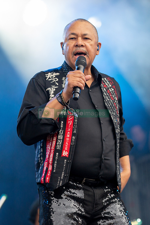 May 25, 2018 - Napa, California, U.S - RALPH JOHNSON of Earth, Wind and Fire during BottleRock Music Festival at Napa Valley Expo in Napa, California (Credit Image: © Daniel DeSlover via ZUMA Wire)