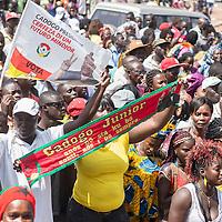 05/03/2014.  Bissau. Guinée Bissau. Les militants du PAIGC fêtent l'inscription au près de la cours suprême de Jose Mario Vaz, candidat pour les présidentielles pour le parti.  ©Sylvain Cherkaoui pour JA