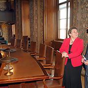 NLD/Den Haag/20070412 - Visit of president of the European Parliament to The Hague, meeting with Mrs. Yvonne Timmerman-Buck, president of the Senate of the States General and Mr. Jos van Gennip, chai of the Foreign Affairs Committee of the Senate..NLD/Den Haag/20070412 - President Europees Parlement Hans-Gert Pöttering bezoekt Den Haag, ontmoeting met de voozitser van de 1e Kamer Mw. Yvonne Timmerman - Buck en dhr. Jos van Gennip, voorzitter Buitenlandse Zaken commitee van de 1e Kamer.  ** foto + verplichte naamsvermelding Brunopress/Edwin Janssen  **