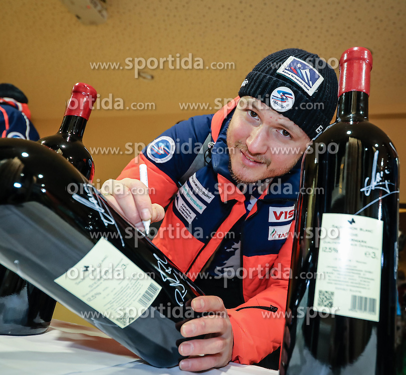 23.01.2017, Planai, Schladming, AUT, FIS Weltcup Ski Alpin, Slalom, Herren, Startnummernauslosung, im Bild Alexander Khoroshilov (RUS) // Alexander Khoroshilov of Russia during the bibdraw prior to the Schladming FIS Ski Alpine World Cup 2017 at the Planai in Schladming, Austria on 2017/01/23. EXPA Pictures © 2017, PhotoCredit: EXPA/ Martin Huber