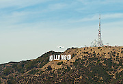 Space shuttle Endeavour, Hollywood Sign, Fly over,  Los Angeles CA;