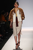 Lara Mullen walks the runway wearing BCBG MAXAZRIA Fall 2012 during Mercedes-Benz Fashion Week in New York City,  on February 9th, 2012