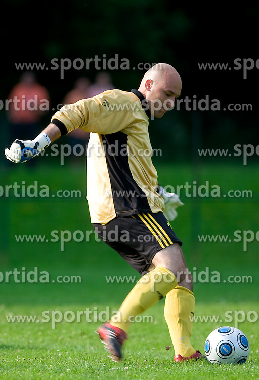 during preseason friendly football match between NK Olimpija and SPINS selection, on June 30, 2009, in Menges, Slovenia. SPINS won 3:2.(Photo by Vid Ponikvar / Sportida)