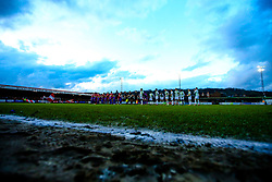 Accrington Stanley and Yeovil Town line up ahead of their Sky Bet League Two match - Mandatory by-line: Robbie Stephenson/JMP - 17/04/2018 - FOOTBALL - Wham Stadium - Accrington, England - Accrington Stanley v Yeovil Town - Sky Bet League Two