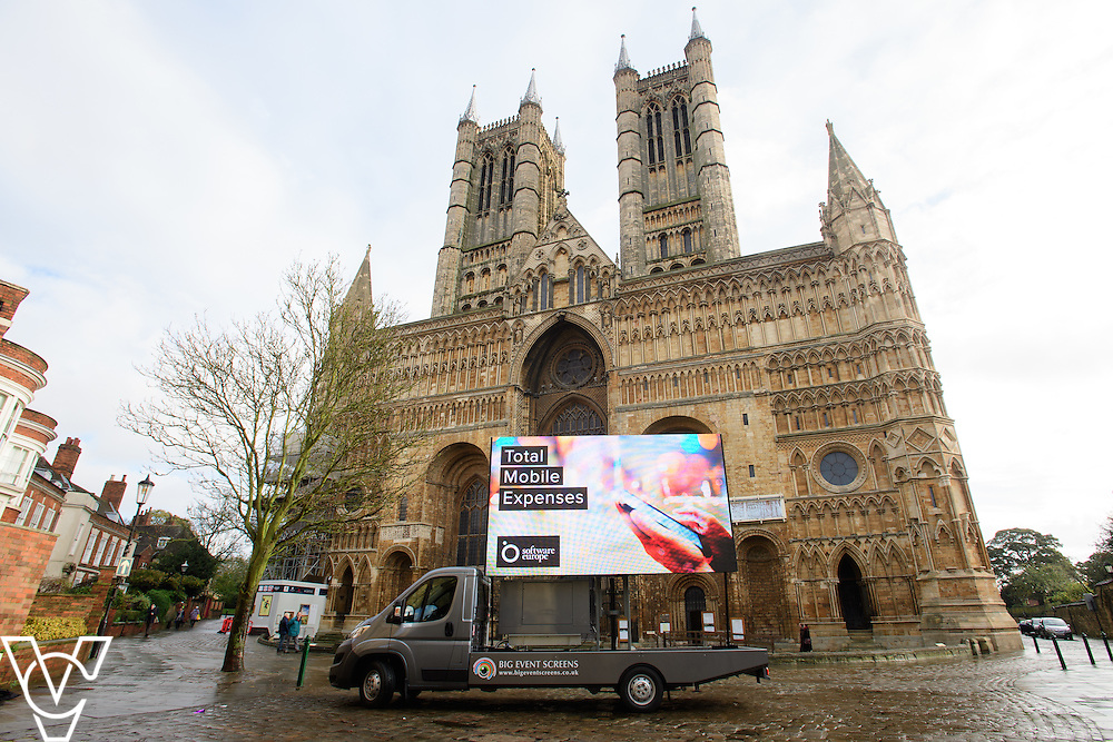 Software Europe advertising/marketing around Lincoln.<br /> <br /> Picture: Chris Vaughan Photography<br /> Date: November 10, 2016