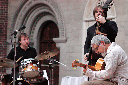 Here's some of what we saw during the opening night of Vectren Jazz & Beyond's 2012 season, featuring Fareed Haque on guitar, Alex Austin on bass and Greg Fundis on drums at the Dayton Art Institute, Thursday, March 1, 2012.