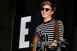 © Licensed to London News Pictures . 07/06/2015 . Manchester , UK . GEORGE EZRA performs on the main stage at The Parklife 2015 music festival in Heaton Park , Manchester . Photo credit : Joel Goodman/LNP