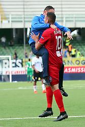 """Foto /Filippo Rubin<br /> 28/10/2017 Cesena (Italia)<br /> Sport Calcio<br /> Cesena vs Novara - Campionato di calcio Serie B ConTe.it 2017/2018 - Stadio """"Dino Manuzzi""""<br /> Nella foto: GOAL NOVARA FEDERICO MACHEDA<br /> <br /> Photo /Filippo Rubin<br /> October 28, 2017 Cesena (Italy)<br /> Sport Soccer<br /> Cesena vs Novara - Italian Football Championship League B ConTe.it 2017/2018 - """"Dino Manuzzi"""" Stadium <br /> In the pic: GOAL NOVARA FEDERICO MACHEDA"""