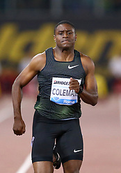 May 31, 2018 - Rome, Italy - Christian Coleman (USA) competes in 100m men during Golden Gala Iaaf Diamond League Rome 2018 at Olimpico Stadium in Rome, Italy on May 31, 2018. (Credit Image: © Matteo Ciambelli/NurPhoto via ZUMA Press)