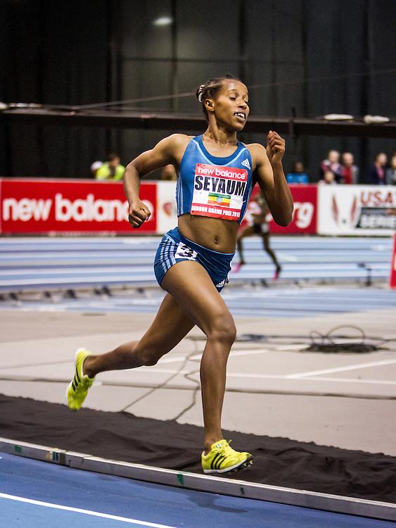 New Balance Indoor Grand Prix Track & FIeld:   Women's 2000 meters, Dawit Seyaum, 18, Ethiopia, World Junior Record