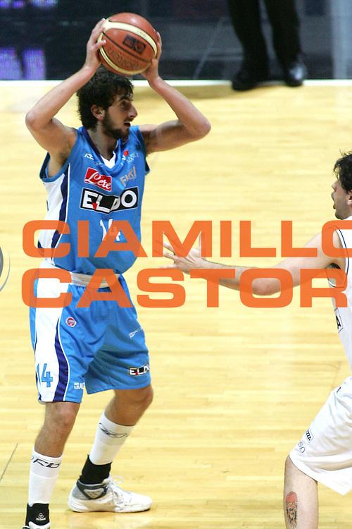DESCRIZIONE : Bologna Lega A1 2007-08 La Fortezza Virtus Bologna Eldo Napoli<br /> GIOCATORE : Simone Flamini<br /> SQUADRA : Eldo Napoli <br /> EVENTO : Campionato Lega A1 2007-2008 <br /> GARA : La Fortezza Virtus Bologna Eldo Napoli<br /> DATA : 21/10/2007 <br /> CATEGORIA : Palleggio<br /> SPORT : Pallacanestro <br /> AUTORE : Agenzia Ciamillo-Castoria/M.Minarelli