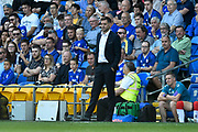 Middlesbrough manager Jonathan Woodgate during the EFL Sky Bet Championship match between Cardiff City and Middlesbrough at the Cardiff City Stadium, Cardiff, Wales on 21 September 2019.