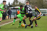 Forest Green Rovers Reece Brown(10) and Notts County Robert Milsom(24) during the EFL Sky Bet League 2 match between Forest Green Rovers and Notts County at the New Lawn, Forest Green, United Kingdom on 9 February 2019.