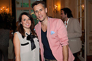 REBECCA BADON; RICHARD BACON. Imogen Edwards-Jones - book launch party for ' Hospital Confidential' Mandarin Oriental Hyde Park, 66 Knightsbridge, London, 11 May 2011. <br />  <br /> -DO NOT ARCHIVE-© Copyright Photograph by Dafydd Jones. 248 Clapham Rd. London SW9 0PZ. Tel 0207 820 0771. www.dafjones.com.