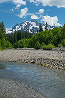 Mount Shuksan from the Nooksack River, North Cascades Washington