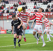 Hamilton&rsquo;s Lucas Tagliapietra heads clear from Dundee&rsquo;s Darren O&rsquo;Dea - Hamilton v Dundee, Ladbrokes Scottish Premiership at New Douglas Park<br />  <br />  - &copy; David Young - www.davidyoungphoto.co.uk - email: davidyoungphoto@gmail.com