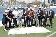 FIU Alphonso Stadium ground breaking ceremony.  Bleachers on the North side of the stadium are coming down in order to close off the stadium.