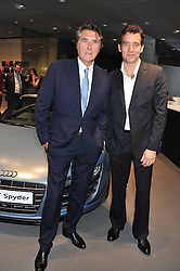 Left to right, BRYAN FERRY and CLIVE OWEN at the Global Launch of Audi's first Digital Showroom, 74-75 Piccadilly, London on 16th July 2012.