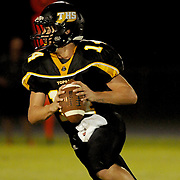 Topsail High School's Nick Altilio looks to pass against Pender High School Friday August 30, 2013 at Topsail High School. (Jason A. Frizzelle) This collection of images is from the 2013 High School Football in the Cape Fear region.