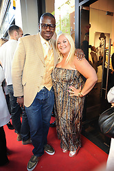 VANESSA FELTZ and BEN OFOEDU at a private view of an exhibition of work by artists Zoobs and Lodola held at The Opera Gallery, 134 New Bond Street, London on 16th June 2010.