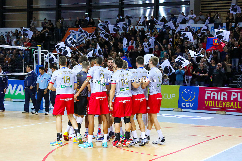 Illustration groupe Ajaccio - 04.12.2014 - Ajaccio / Izmir - 1/8finale Cev Cup<br />