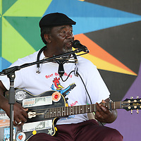 """Terry """"Harmonica"""" Bean performed Saturday at New Albany's Freedom Fest"""