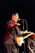 Pat DiNizio on guitar and vocals and Severo Jornacion on bass during The Smithereens' performance at The Landis Theater in Vineland, NJ.