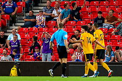 Stoke City fans jokingly call for a VAR decision to be made - Mandatory by-line: Robbie Stephenson/JMP - 25/07/2018 - FOOTBALL - Bet365 Stadium - Stoke-on-Trent, England - Stoke City v Wolverhampton Wanderers - Pre-season friendly