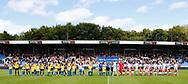 FODBOLD: De to hold før kampen i ALKA Superligaen mellem Hobro IK og FC Helsingør den 16. juli 2017 på DS Arena i Hobro. Foto: Claus Birch