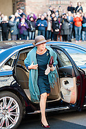04.10.2016. Copenhagen, Denmark.  <br /> Princess Benedikte's arrival to Christiansborg Palace for attended the opening session of the Danish Parliament (Folketinget).<br /> Photo: &copy; Ricardo Ramirez