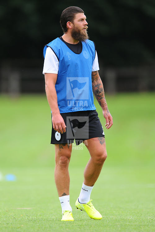 TELFORD COPYRIGHT MIKE SHERIDAN AFC Telford captain Shane Sutton as AFC Telford United return to training at Lilleshall National Sports Centre on Saturday, July 4, 2020.<br /> <br /> <br /> Picture credit: Mike Sheridan/Ultrapress<br /> <br /> MS202021