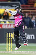 Katey Martin hits over point for four. Women's T20 international Cricket , Australia v New Zealand White Ferns. North Sydney Oval, Sydney, NSW, Australia. 29 September 2018. Copyright Image: David Neilson / www.photosport.nz