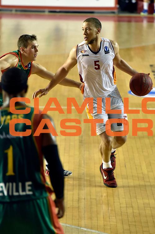 DESCRIZIONE : Roma Eurocup 2014/15 Acea Roma Baloncesto Seville<br /> GIOCATORE : Brandon Triche<br /> CATEGORIA : palleggio<br /> SQUADRA : Acea Roma<br /> EVENTO : Eurocup 2014/15<br /> GARA : Acea Roma Baloncesto Seville<br /> DATA : 29/10/2014<br /> SPORT : Pallacanestro <br /> AUTORE : Agenzia Ciamillo-Castoria /GiulioCiamillo<br /> Galleria : Acea Roma Baloncesto Seville<br /> Fotonotizia : Roma Eurocup 2014/15 Acea Roma Baloncesto Seville<br /> Predefinita :