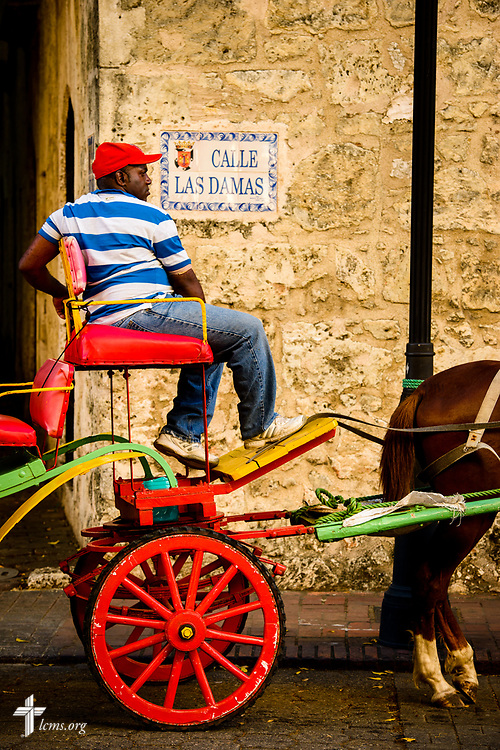 A man waits for riders in the colonial zone of Santo Domingo, Dominican Republic, on Sunday, March 19, 2017. LCMS Communications/Erik M. Lunsford
