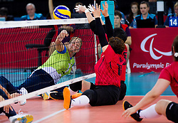 Anita Goltnik Urnaut of Slovenia during 5th - 8th place sitting volleyball match between National teams of Slovenia and Japan during Day 7 of the Summer Paralympic Games London 2012 on September 4, 2012, in ExCel Exhibition centre, London, Great Britain. Slovenia defeated Japan 3-0. (Photo by Vid Ponikvar / Sportida.com)