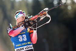 Henrik L'Abee-Lund (NOR) in action during the Men 10km Sprint at day 6 of IBU Biathlon World Cup 2018/19 Pokljuka, on December 7, 2018 in Rudno polje, Pokljuka, Pokljuka, Slovenia. Photo by Vid Ponikvar / Sportida