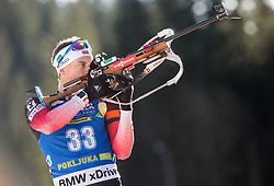 Henrik L'Abee-Lund (NOR) in action during the Men 10km Sprint at day 6 of IBU Biathlon World Cup 2018/19 Pokljuka, on December 7, 2018 in Rudno polje, Pokljuka, Pokljuka, Slovenia. Photo by Vid Ponikvar / Sportida