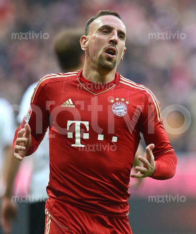 FUSSBALL   1. BUNDESLIGA  SAISON 2012/2013   11. Spieltag FC Bayern Muenchen - Eintracht Frankfurt    10.11.2012 Franck Ribery (FC Bayern Muenchen)